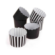 Set of 50 Black & White Cupcake Holders