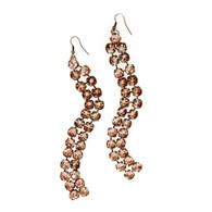 Rose Gold Cubic Zirconia Drop Earrings