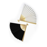 Raw Silk Japanese Folding Fan