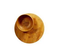 Crafty Bird Bamboo Plate and Bowl Set