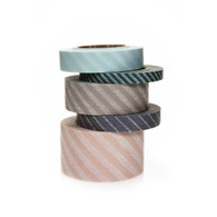 Stripe Decorating Tape in Soft Hues + Blues