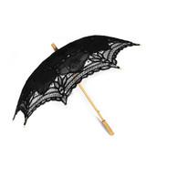 Victorian Style Black Lace Folding Fan