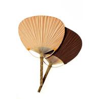 Raw Silk Japanese Rigid Fan