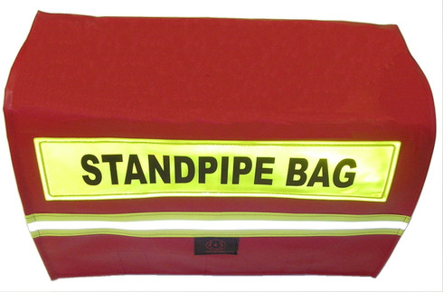 Standpipe tool storage bag with label