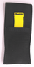 Black quick pouch with yellow strap