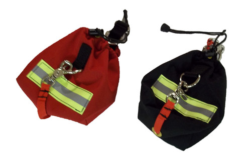 Alley Cat Webbing Toss Bag in black or red