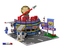 Benny's Astro Burger Diner PDF Lego Instructions and Sticker Pack