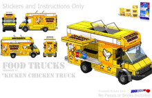Kicken Chicken Food Truck Instructions and Sticker Pack