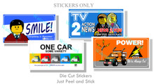 City Themed 4 Pack Billboard Stickers Collection 1