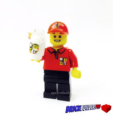 Fast Food Burger Employee Minifigure