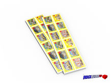 Stickers: Brick Toys YELLOW Box Labels, TOY STORE