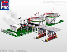 Octan Fuel Terminal Train Dock Layout PDF Lego Instructions