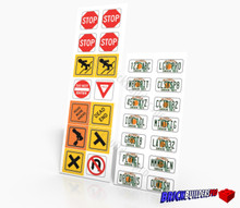 Stickers: Florida Car Plates and Traffic Signs