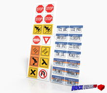 Stickers: Michigan Car Plates and Traffic Signs