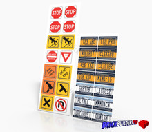 Stickers: New York Car Plates and Traffic Signs
