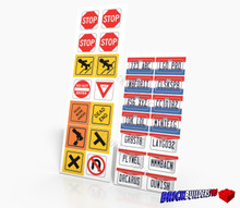 Stickers: Ohio Car Plates and Traffic Signs