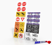 Stickers: Texas Car Plates and Traffic Signs
