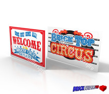 Stickers: Circus Big Tent Signs