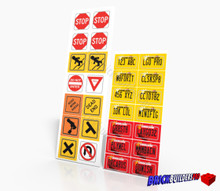 Stickers: Brick Land Car Plates and Traffic Signs