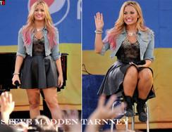 Demi Lovato in Steve Madden Tarnney