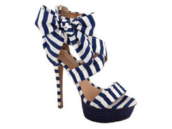 Zigi Soho Khloe Blue & White Platform Sandals