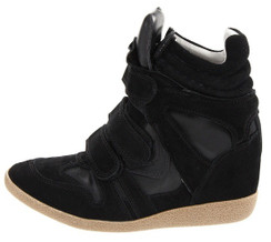 Steve Madden Hilight Black Wedge Sneakers