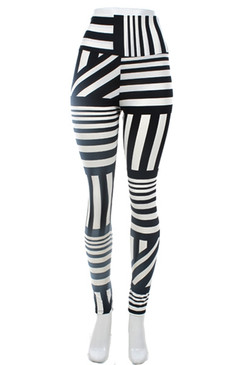 High Waist Multi Stripe Leggings