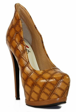 Luichiny My Best Ever Cognac Platform Pumps