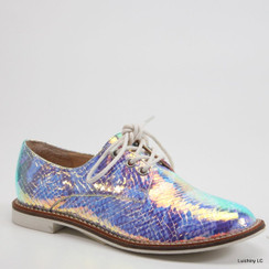 Luichiny Lucky Girl Pearl Snake Oxford Flats