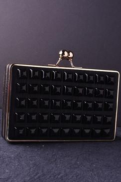 Black Cubic Clutch