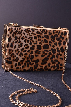 Wild Side Leopard Print Clutch