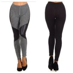 Black & White Moto Leggings
