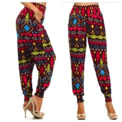 Color Block High Waist Slouch Pants