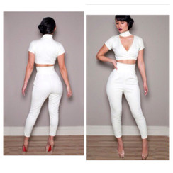 Tammy Two Piece White Jumper Set