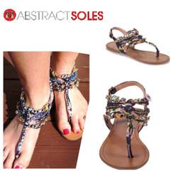 Zigi Soho Aada Black Multi Flat Sandals