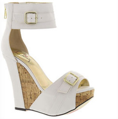 Luichiny More N More White Wedge Sandals