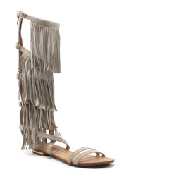 Luichiny Caught Me Fringe Natural Sandals