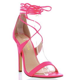 Liliana Nikia Pink Strappy Sandals