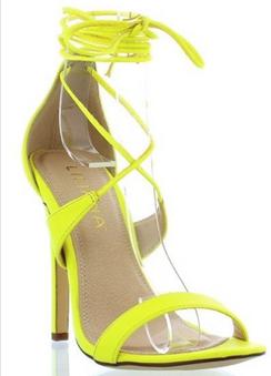 Liliana Nikia Yellow Strappy Sandals
