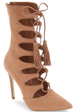 Steve Madden Piper Tan Lace Up Bootie