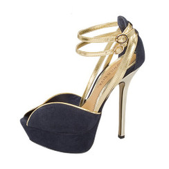 Wild Diva Felina 02 Navy High Heel Sandals