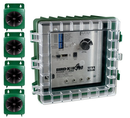 Broad Band Pro Kit comes with 4 speakers  (approx 30 metres per speaker.)