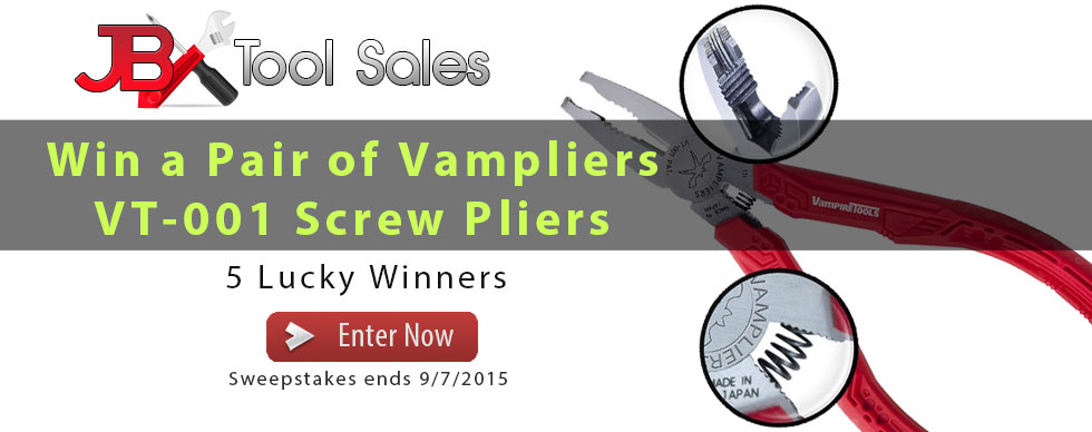 Win a pair of Vampliers to help remove any broken screw.