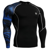 Fixgear compression skin tight printed base layer black t shirt