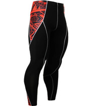 Fixgear compression skin tight graphic printed base layer black pants
