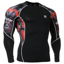 Fixgear running skin tight base layer graphic t shirt black