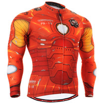 Fixgear cycling biking jersey printed orange shirt for men