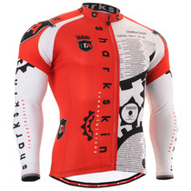 Fixgear cycling biking jersey printed red shirts for men