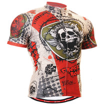 Fixgear cycling biking jersey skull shirts for men