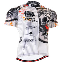 Fixgear cycling skull biking jersey short sleeve for men